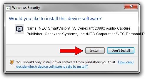 Conexant Systems, Inc./NEC Corporation/NEC Personal Products, Ltd. NEC SmartVision/TV, Conexant 2388x Audio Capture driver installation 1711754