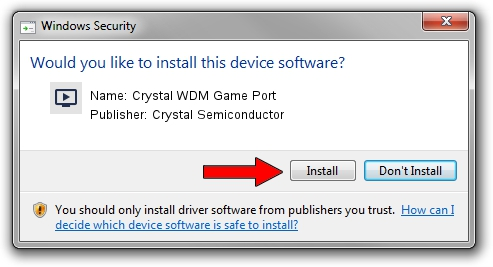 Crystal Semiconductor Crystal WDM Game Port driver installation 1432754