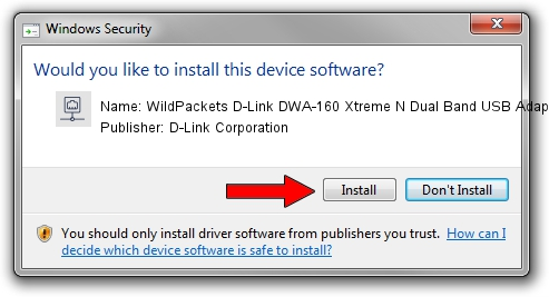 D-Link Corporation WildPackets D-Link DWA-160 Xtreme N Dual Band USB Adapter rev.B setup file 1157543