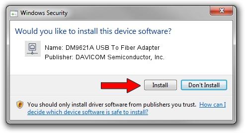 DAVICOM Semiconductor, Inc. DM9621A USB To Fiber Adapter setup file 1050959