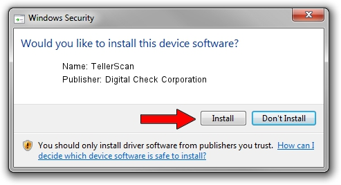 Digital Check Corporation TellerScan driver installation 1156116