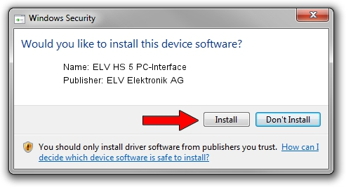 ELV Elektronik AG ELV HS 5 PC-Interface driver installation 1406728