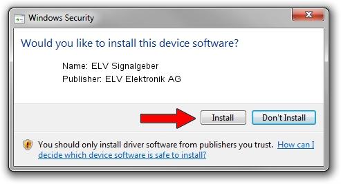 ELV Elektronik AG ELV Signalgeber driver installation 1406676