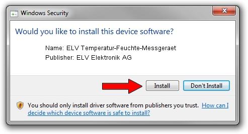 ELV Elektronik AG ELV Temperatur-Feuchte-Messgeraet driver download 1406544