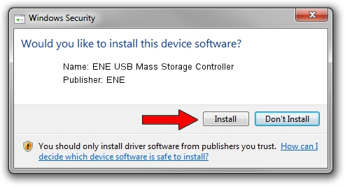 ENE ENE USB Mass Storage Controller driver installation 1321315