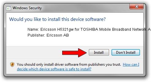 Ericsson AB Ericsson H5321gw for TOSHIBA Mobile Broadband Network Adapter driver installation 1420044