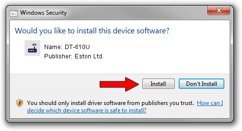 Eston Ltd. DT-610U driver installation 1406639