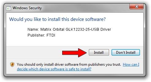 FTDI Matrix Orbital GLK12232-25-USB Driver setup file 1387345