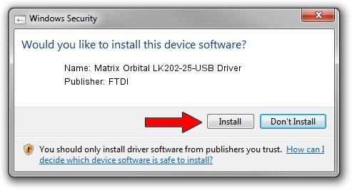 FTDI Matrix Orbital LK202-25-USB Driver setup file 1387330