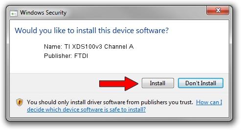 FTDI TI XDS100v3 Channel A driver download 10454