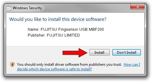 FUJITSU LIMITED FUJITSU Fingsensor USB MBF200 driver installation 1397880
