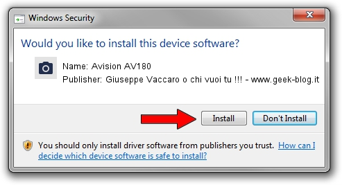 Giuseppe Vaccaro o chi vuoi tu !!! - www.geek-blog.it Avision AV180 driver installation 1438780