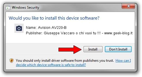 Giuseppe Vaccaro o chi vuoi tu !!! - www.geek-blog.it Avision AV220-B setup file 1438738