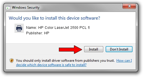 HP HP Color LaserJet 2500 PCL 5 setup file 1504122