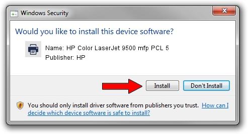 HP HP Color LaserJet 9500 mfp PCL 5 driver installation 2095532
