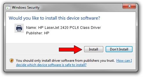 Driver hp laserjet 2420 windows 7 32 bits.
