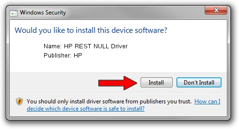HP HP REST NULL Driver driver installation 1390017