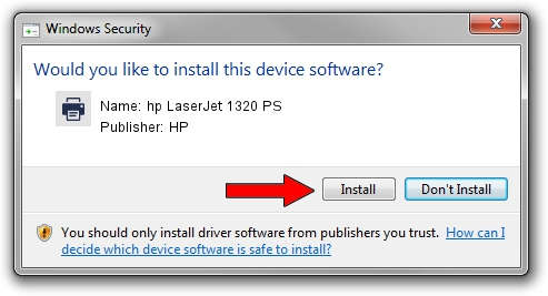 HP hp LaserJet 1320 PS driver installation 1416917