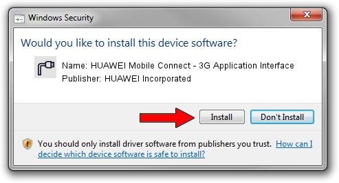 HUAWEI Incorporated HUAWEI Mobile Connect - 3G Application Interface driver installation 12612