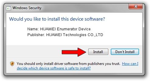 HUAWEI Technologies CO.,LTD HUAWEI Enumerator Device setup file 1104044
