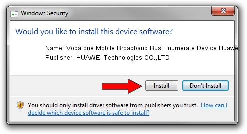 HUAWEI Technologies CO.,LTD Vodafone Mobile Broadband Bus Enumerate Device Huawei driver installation 17923