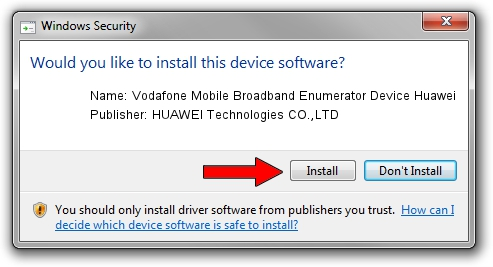 HUAWEI Technologies CO.,LTD Vodafone Mobile Broadband Enumerator Device Huawei driver installation 17885