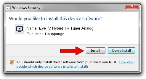 Hauppauge EyeTV Hybrid TV Tuner Analog driver installation 1572528