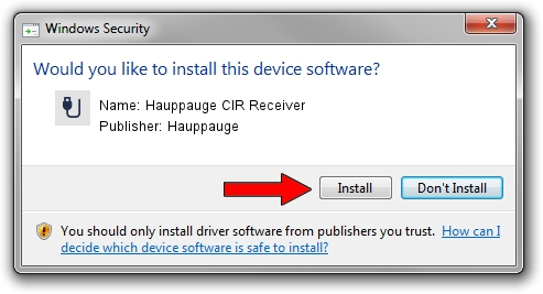 Hauppauge Hauppauge CIR Receiver driver download 631627