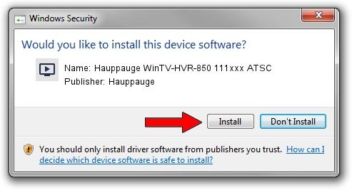 Hauppauge Hauppauge WinTV-HVR-850 111xxx ATSC driver download 620108