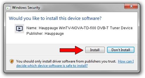 Hauppauge Hauppauge WinTV-NOVA-TD-500 DVB-T Tuner Device driver installation 1212361