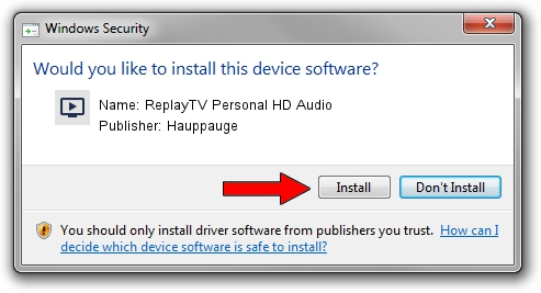 Hauppauge ReplayTV Personal HD Audio driver installation 579146