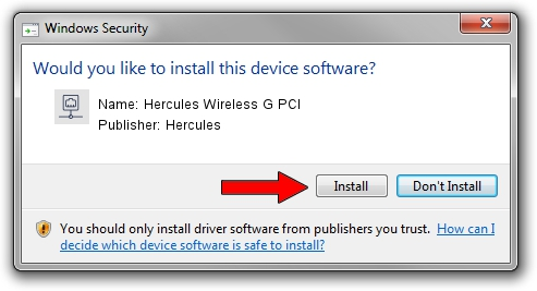 Hercules Hercules Wireless G PCI driver installation 418307