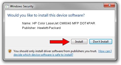 Hewlett-Packard HP Color LaserJet CM6040 MFP DOT4PAR driver installation 2011087