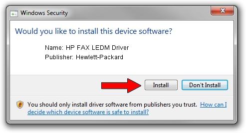 Hewlett-Packard HP FAX LEDM Driver driver installation 2015547