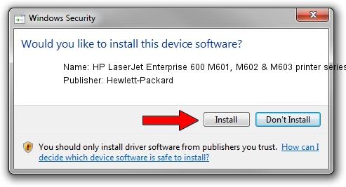 Hewlett-Packard HP LaserJet Enterprise 600 M601, M602 & M603 printer series DOT4USB driver installation 12823