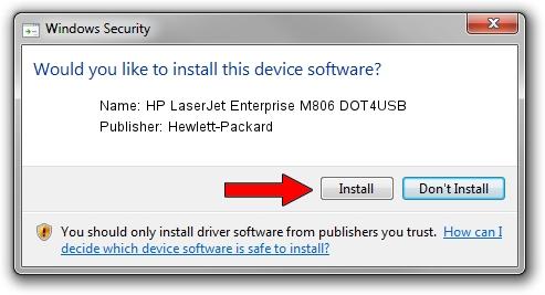 Hewlett-Packard HP LaserJet Enterprise M806 DOT4USB driver download 48150