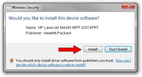 Hewlett-Packard HP LaserJet M4345 MFP DOT4PRT driver installation 1425565