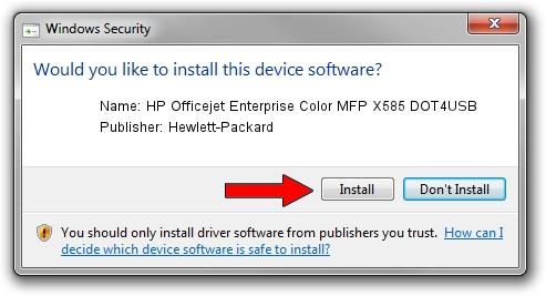 Hewlett-Packard HP Officejet Enterprise Color MFP X585 DOT4USB setup file 12764