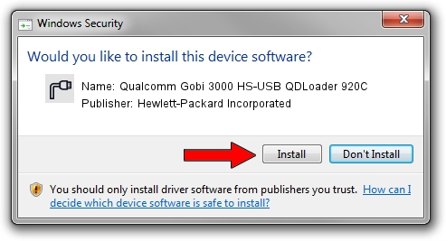 Hewlett-Packard Incorporated Qualcomm Gobi 3000 HS-USB QDLoader 920C driver installation 42374