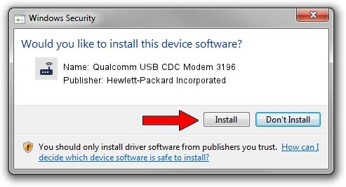 Hewlett-Packard Incorporated Qualcomm USB CDC Modem 3196 driver installation 25947