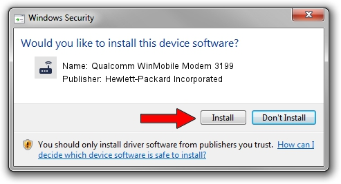 Hewlett-Packard Incorporated Qualcomm WinMobile Modem 3199 driver installation 25826