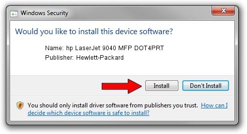 Hewlett-Packard hp LaserJet 9040 MFP DOT4PRT driver installation 891757