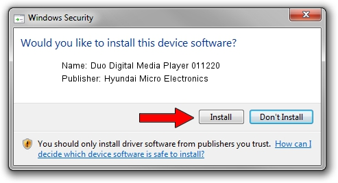 Hyundai Micro Electronics Duo Digital Media Player 011220 driver installation 1323020
