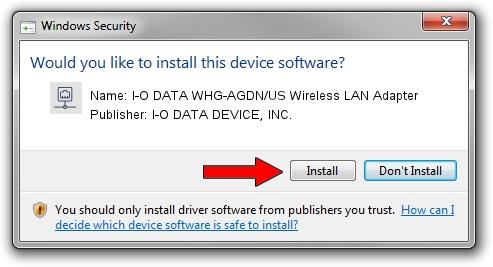 I-O DATA DEVICE, INC. I-O DATA WHG-AGDN/US Wireless LAN Adapter driver installation 1209354