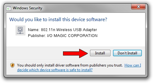 I/O MAGIC CORPORATION 802.11n Wireless USB Adapter setup file 1429223