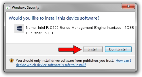 INTEL Intel R C600 Series Management Engine Interface - 1D3B driver installation 1394897