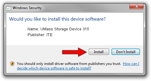 ITE UMass Storage Device 315 setup file 1437805