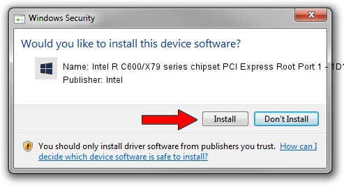 Intel Intel R C600/X79 series chipset PCI Express Root Port 1 - 1D11 driver installation 1780195