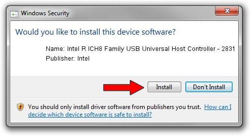 Intel Intel R ICH8 Family USB Universal Host Controller - 2831 setup file 325099