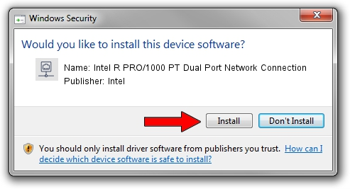 Intel Intel R PRO/1000 PT Dual Port Network Connection driver installation 7152